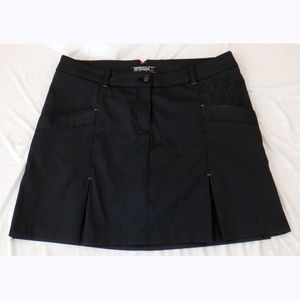 Nike black pinstripe golf skirt